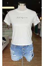 Tops 66 Best Day Ever Cropped Tee