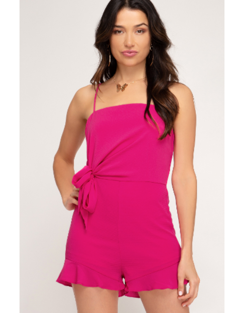 Rompers 48 Brighter Days Ahead Hot Pink Bow Romper