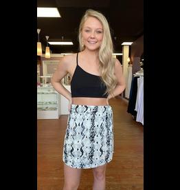Skirts 62 Stop and Stare Snake Print Wrap Skirt