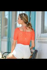 Tops 66 Orange You Cute Floral Bodysuit