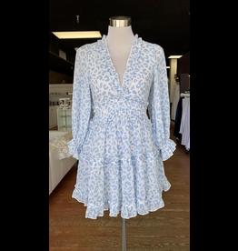 Dresses 22 Wild About Blue Leopard Open Back Dress