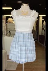 Shorts 58 Blue Tweed Skort