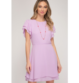 Dresses 22 Petal Power Lavender Fit and Flare Dress