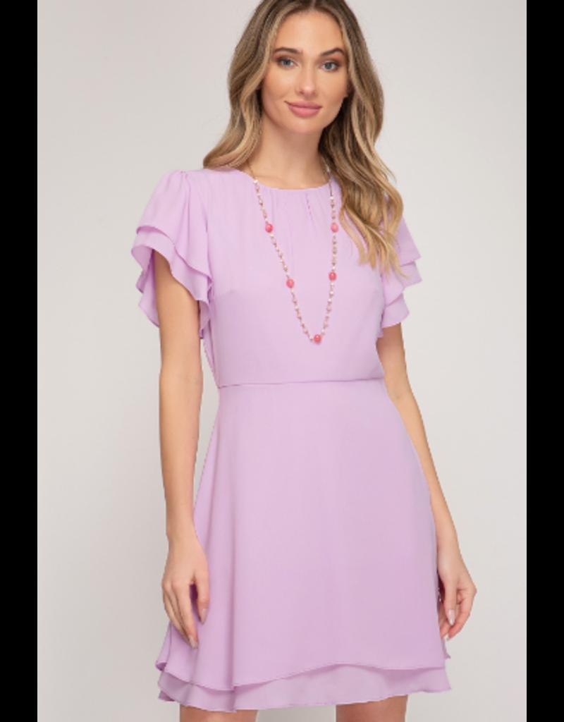 Dresses 22 Petal Power Lavender Fit and Flare Dress