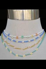 Jewelry 34 Beaded Flower Necklace