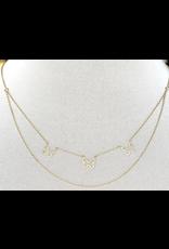 Jewelry 34 Tripe Flutter By Butterfly Necklace