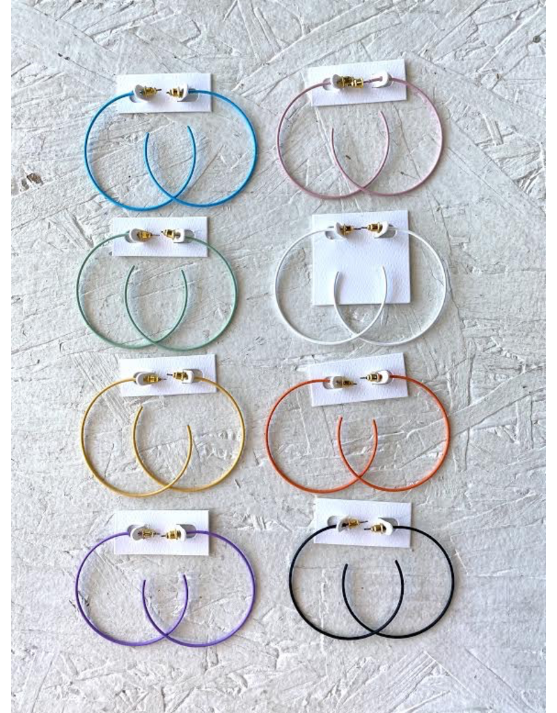 Jewelry 34 Colorful Thin Hoops