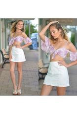Tops 66 Tropical Punch Lilac Tie Front Top