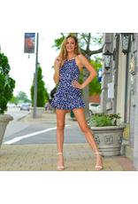 Rompers 48 Spotted In Ruffles Navy Romper