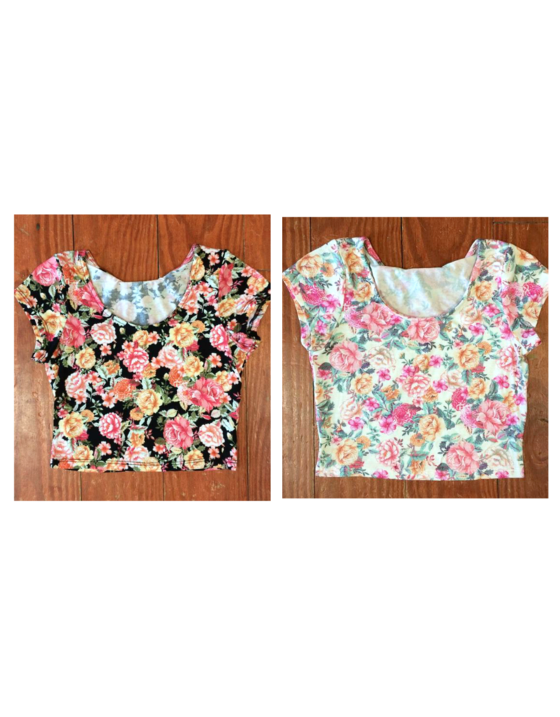 Tops 66 Floral Fantacy Crop Top
