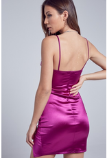 Dresses 22 Satin Semi Formal Magenta Dress