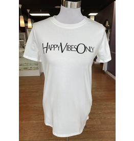 Tops 66 Happy Vibes Only Tee