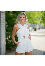 Rompers 48 Eyelet Lace Romper In White