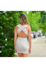 Dresses 22 Simple Elegance Strappy Back Nude/Blush Dress