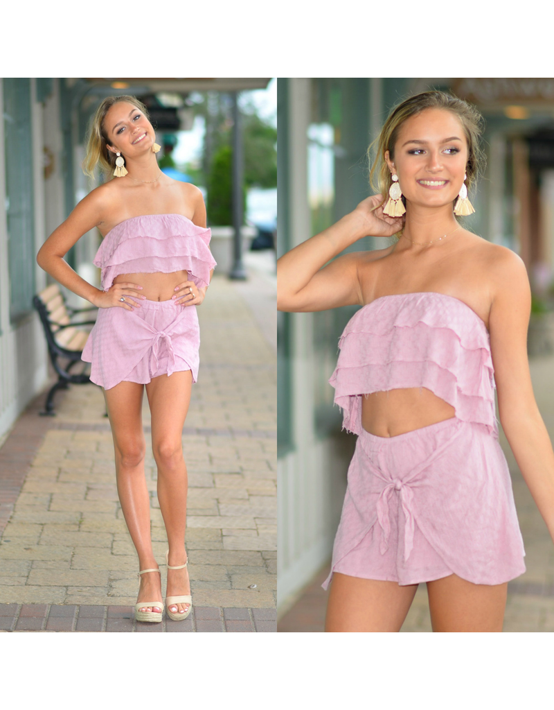 Shorts 58 Lilac Dream Wrap & Tie Front Skort