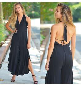 Jumpsuit Ruffle Party Summer Jumpsuit