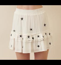 Skirts 62 Star Power White/Black Skirt