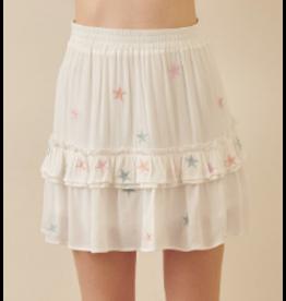 Skirts 62 Star Power White Multi Skirt