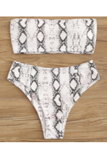 Swimsuits Snake Print High Waist Bikini Bottom