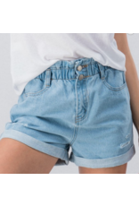 Shorts 58 Paper Bag High Waist Vintage Wash Denim Short