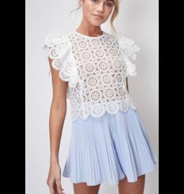 Skirts 62 Dressy Pleated Light Blue Skort