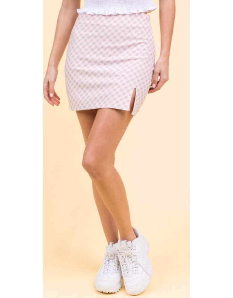 Skirts 62 Check It Out Blush Pink Skirt
