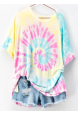 Tops 66 Cotton Candy Swirl Tie Dye Pink Multi Top