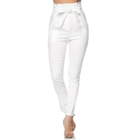 Pants 46 No Limits High Waisted PaperBag White Pants