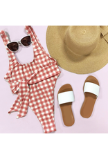 Swimsuits High Cut One Piece Gingham Swim