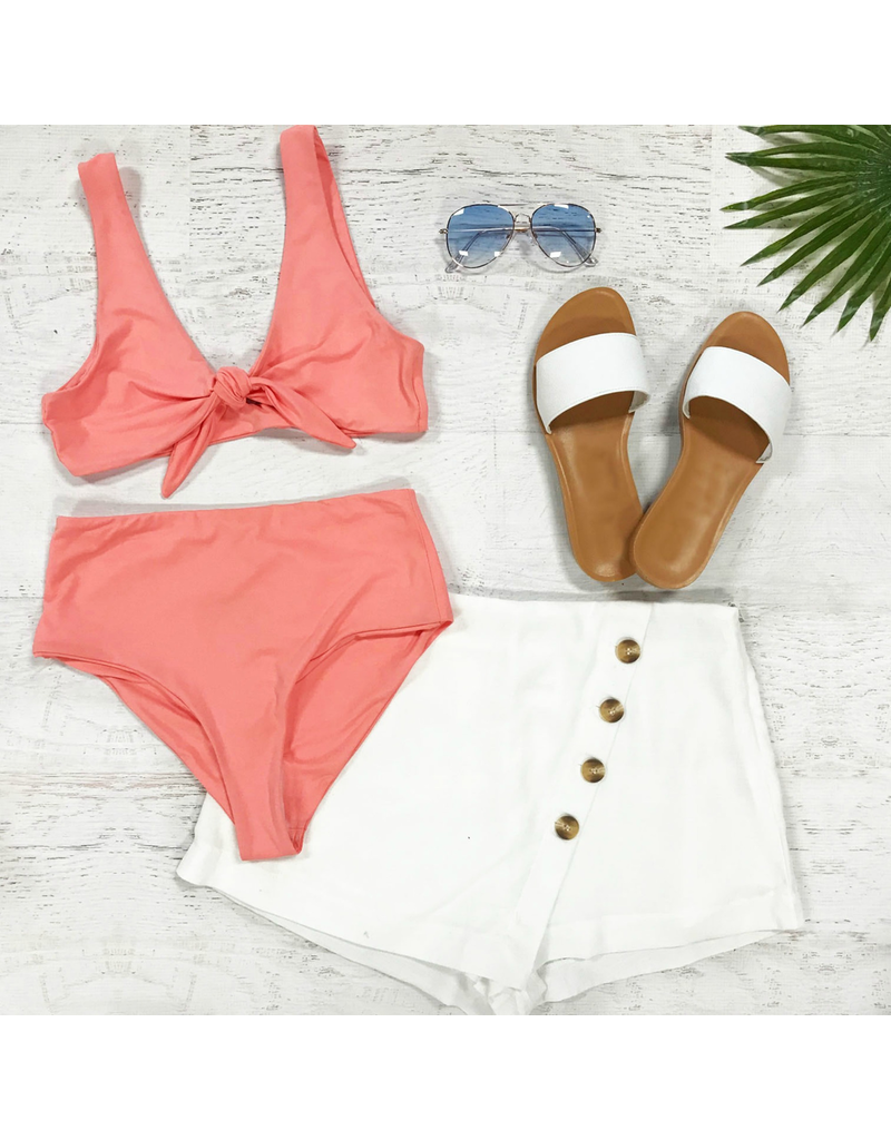 Swimsuits High Waisted Coral Swim Bottom