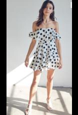 Dresses 22 Lottie Dottie White/Black Polka Dot Dress
