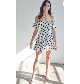 Dresses 22 Lottie Dottie White/Black Polka Dot Dress