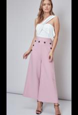 Pants 46 Color Crush Front Button Cropped Blush Pants