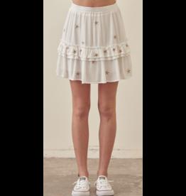Skirts 62 Star Power White Gold Skirt