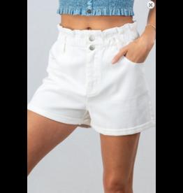 Shorts 58 PaperBag Summer White Denim Shorts