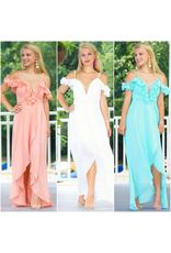 Dresses 22 Summer Soiree Chiffon Ruffle Maxi