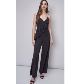 Jumpsuit Meet Me In the Moonlight Black Ruffle Jumpsuit