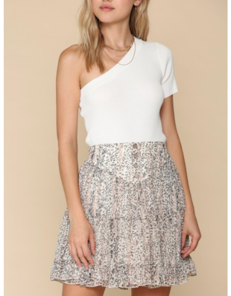 Tops 66 Summer State of Mind One Shoulder White Top