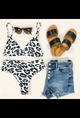 Swimsuits Leopard Hi Waist Bikini Bottom