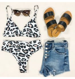 Swimsuits Leopard Hi Waist Bikini Bottom