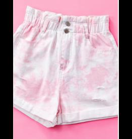Shorts 58 Paperbag High Waist Pink Tie Dye Shorts