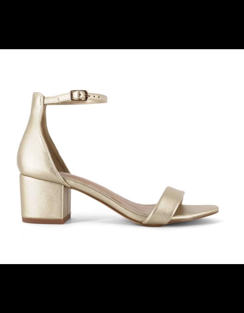 Shoes 54 Celebration Gold Block Heels