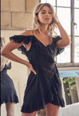 Dresses 22 Eyelet Dream Black Wrap Dress