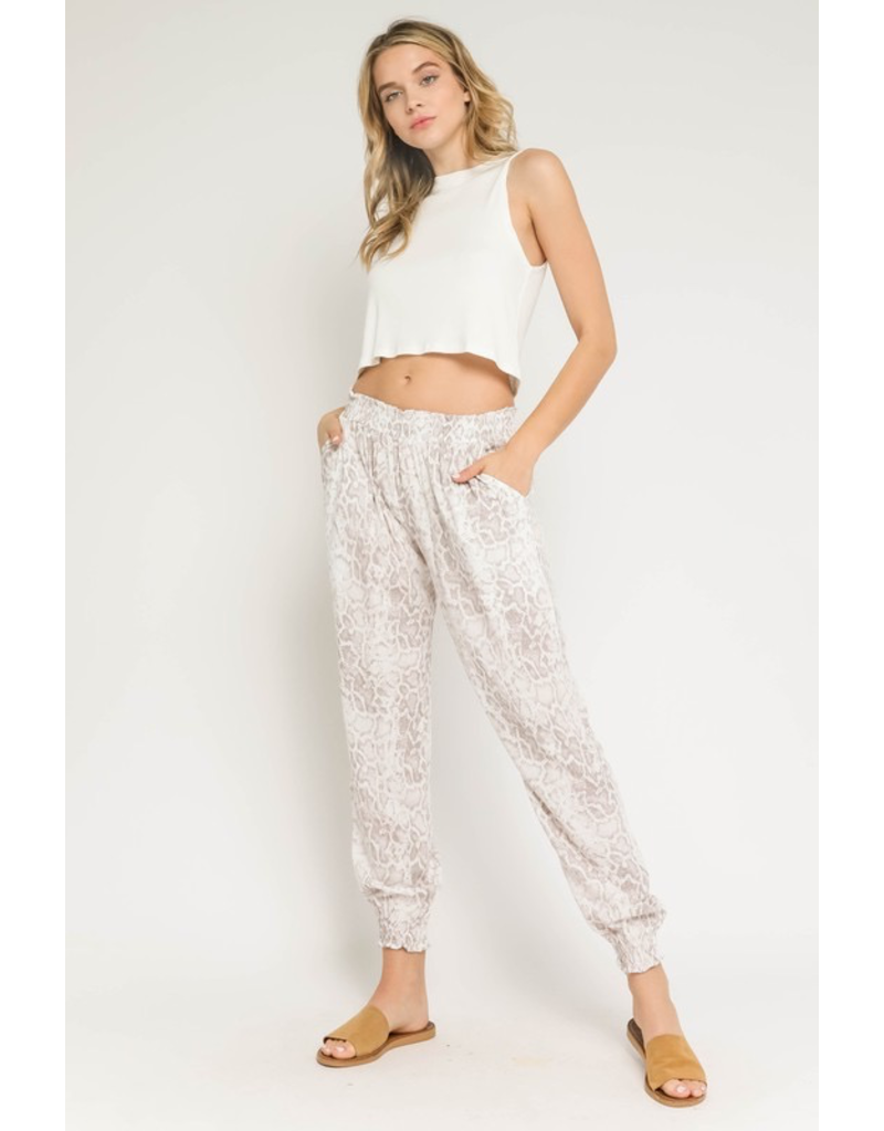 Pants 46 Comfy Neutral Snake Joggers