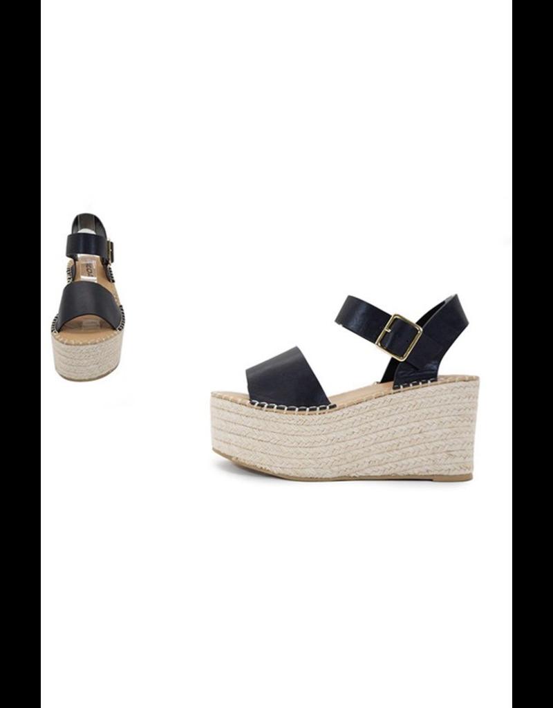 Shoes 54 Spring In My Stride Platform Black Espadrille