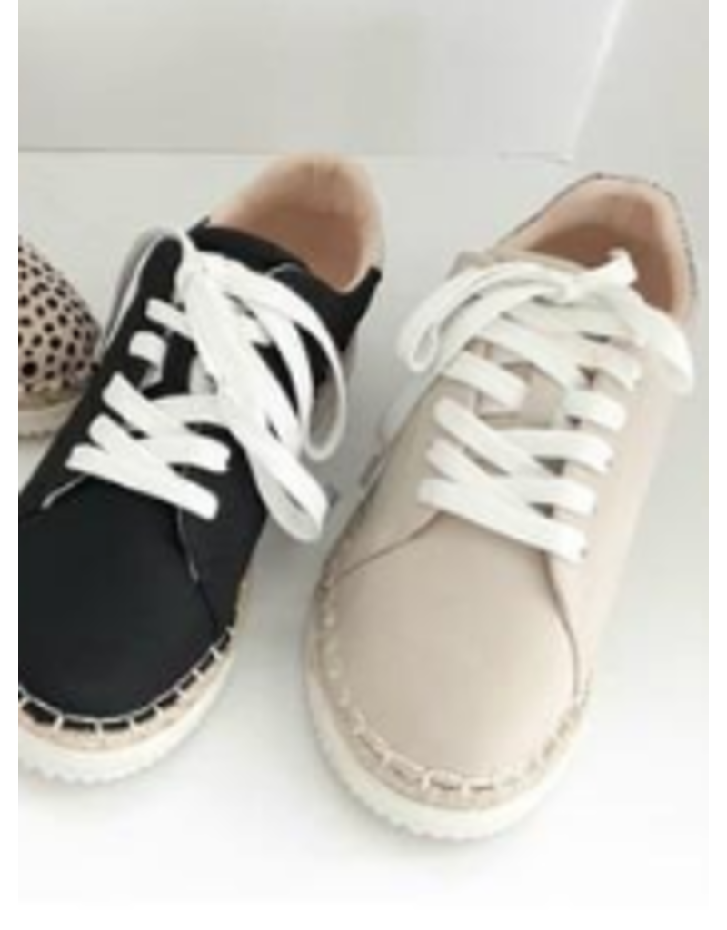 Shoes 54 Lace Up. Stone Espadrile Sneaker