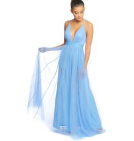 Dresses 22 Swept Away Light Blue Long Tulle Formal Dress