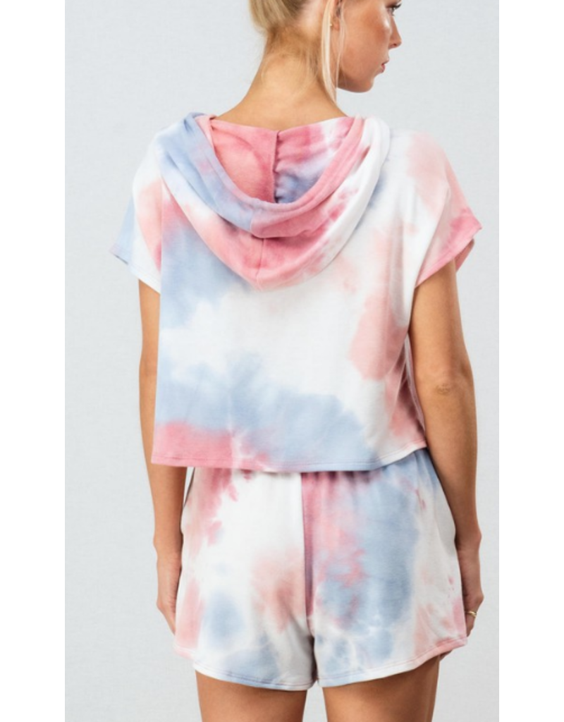 Tops 66 A Place in the Sun Pink Tie Dye Hoodie