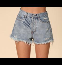 Shorts 58 Summer On High Waist Distressed Denim Shorts