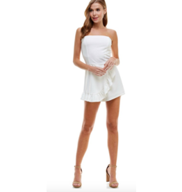Rompers 48 Darling Ruffle Strapless White Romper